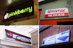 Led Sign Light Box with CUSTOM Full Color Graphics 3.5' X 2.5' with two Eye Hook