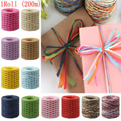 1 Roll Paper String Cord Twine Rope Gifts Box Packing String Supplies Craft DIY $10.39