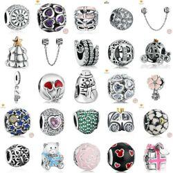 Authentic 925 Sterling SILVER European Charms Xmas Beads Pendant For Bracelets $7.99