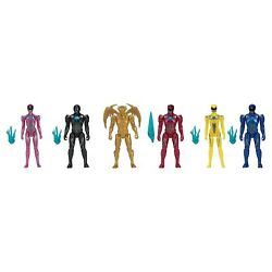 Bandai Collectible Power Ranger Team with Goldar 6 Figures NEW
