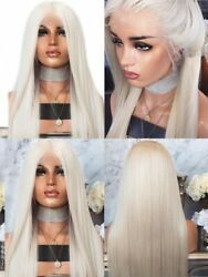 US 24quot; Synthetic Hair Party Lace Front Wig Light Blonde Natural Straight $39.99