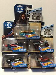 2017 Hot Wheels character Cars DC Justice League Movie Set Of 5 Brand New