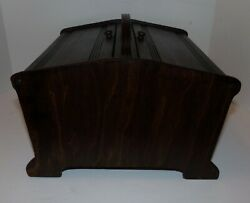 Vintage Wooden Sewing Box Refinished maked Butler Style 150