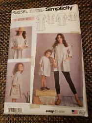 Simplicity S8856 Child's Dress (3-8) & Misses Tunic Artisan Easy-To-Sew Pattern