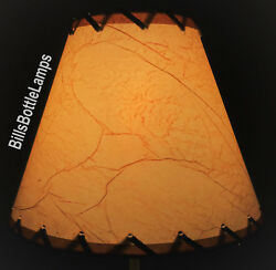 Rustic Cottage LACED CRACKLE Table Light LAMP SHADE Clip On Bulb Style 9quot; Cone $25.99