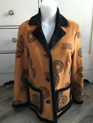 Robert Kitchen Canada Faux Fur Suede Women#x27;s Jacket Size Medium C $54.95