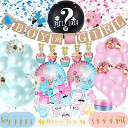 Gender REVEAL Party Supplies Baby Shower Boy or Girl Decoration Kit 127 PIECES $19.99