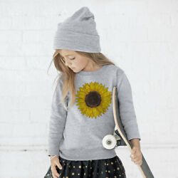 Sunflower Flower Sun Girls T Shirt Toddler Fleece Sweatshirt Long Sleeve Gift $19.99
