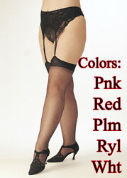 Shirley of Hollywood STOCKING SHEER THIGH HIGH Plus $11.99