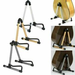 A-Frame Folding Universal Acoustic Electric Bass Black Guitar Floor Stand Holder