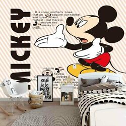 Reach Mickey Mouse 3D Full Wall Mural Photo Wallpaper Printing Home Kids Decor $22.46