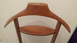 Rare Mid Century double wooden Fratelli Reguitti Valet Stand Silent Butler