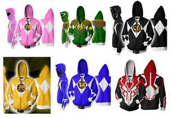 Mens Womens Casual Power Ranger Halloween Costume Hoodie Sweater Sweatshirt ZG9