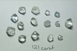 121CT Natural High Gem Quality White Colorless Clean Rough Jewelry Grade Diamond