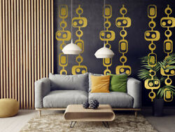 Mid Century Modern Decor Modern Wall Decals Mid Century Modern Wall Art Retro $45.00