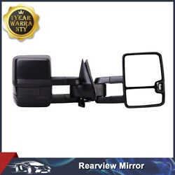 Pair Towing Mirrors Power Heated Signal Light For 03-07 Chevy GMC Updated Style