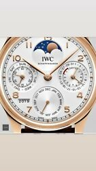 IWC Portuguese Perpetual Calendar 5033 New But Used As A Display.
