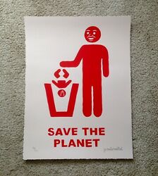 Joan Cornella Save the Planet Signed Art Screen Print Limited Edition Only 100