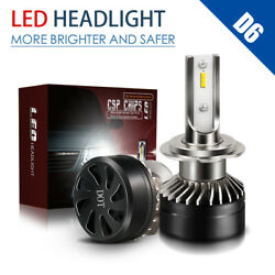 2× H7 MINI Car LED Headlight Kits 60W 12000LM Hi-Low Beam Bulbs 6000K White LXI