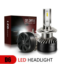 60W Motorcycle H7 DOT LED Headlight Bulbs White 6000K VS 55W 35W HID Xenon LXI