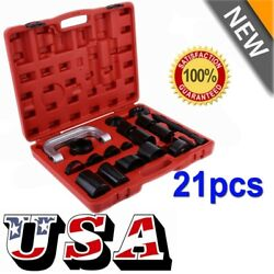 21PC C PRESS TRUCK CAR BALL JOINT NICE DELUXE SET SERVICE KIT REMOVER INSTALLER $76.39