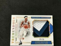 2018-19 National Treasures Jimmy Butler 3CLR Colossal Patch Prime 2525