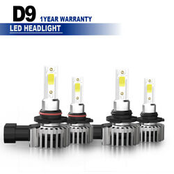 9005+9006 LED Headlight Bulb For Chevrolet Silverado 1500 2500 HD 2001-2006 LXM