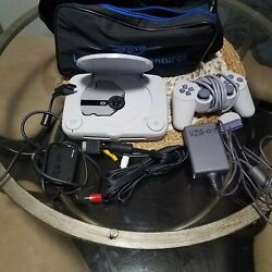 Sony PSOne PS1 Slim White Console Complete with Carrying Case