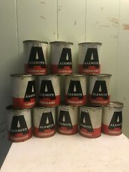 8 Cans Vintage Alemite Lubricant 1 Pound Grease Can Nice Full Oil Viscous H $89.00