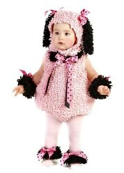 Pinkie Poodle Costume Pink Chenille Princess Puppy Dog Infant Baby Girl 6 12 mo $32.50