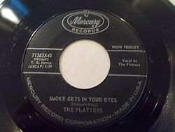 The Platters Smoke Gets In Your Eyes  No Matter What You Are 45 Vinyl Record