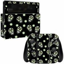 MightySkins Skin Compatible with Nintendo Switch - Nighttime Skulls  Protective