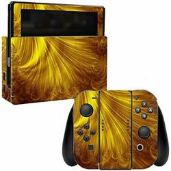 MightySkins Skin Compatible with Nintendo Switch wrap Cover Sticker Skins Golden