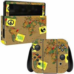 MightySkins Skin Compatible with Nintendo Switch wrap Cover Sticker Skins World
