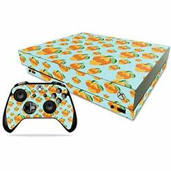 MightySkins Skin Compatible with Xbox One X Combo - Orange You Glad  Protective