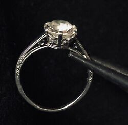 Diamond Engagement Ring: 1.50 Ct. Platinum; Six Prong Crown Setting Immaculate