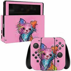 MightySkins Skin Compatible with Nintendo Switch - Chihuahua Rainbow  Protectiv