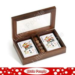 Executive Wood Dice & Card Set Man Gear  by Demdaco Wooden Games
