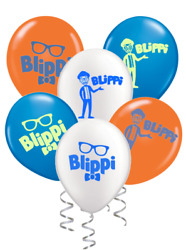 Blippi Balloons Birthday Party Supplies decorations 12 24 or 36pc Option $13.99