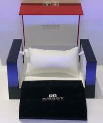 New Tissot Swiss Collectors Men's  empty Watch Box Only With Pouch