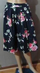 Taydey Line Pleated Floral Vintage Skirt For Women Large new $15.00
