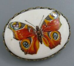 Vintage Jewelry Butterfly Cameo BROOCH PIN Rhinestone Lot G
