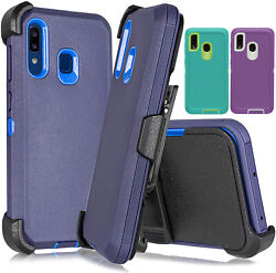 For Samsung Galaxy A20 A30 A50 Hybrid Case + Belt Clip Fits Otterbox Defender