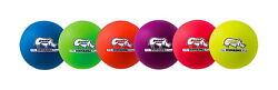 Champion Sports Rhino Skin Dodgeballs 6-310 Inches Assorted Colors Set of 6