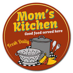 SignMission Mom#x27;s Kitchen Circle Corrugated Plastic Sign $9.98