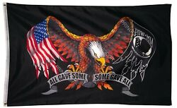Veteran POW MIA All Gave Some Some Gave All Eagle Polyester 3x5FT Flag Military $7.69