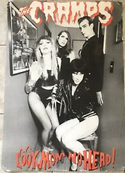 """The Cramps Poster Rare! """"Look Mom No Head"""" Out Of Print Collectable!!"""