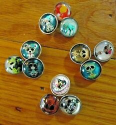 (1) Lot of 3 Animal Snap Charms 18mm Bracelet Pendant Earrings  Speedy Delivery