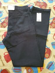 GOODFELLOW SIZE 32 X 34 NEN'S RELAXED STRAIGHT UTILITY PANTS JEANS EBONY
