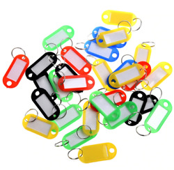 10 Pieces Wholesale Plastic Key Tags Assorted Key Rings ID Tags Name Card Label